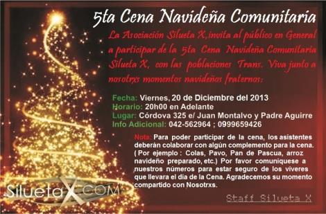 Cena Comunitaria Navideña Silueta X 2013