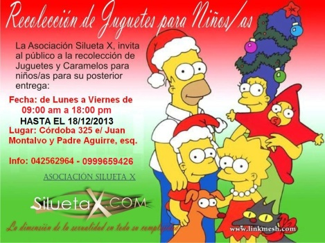 Recolección juguetes niños VIH 2013 - Silueta X - Diane Rodríguez