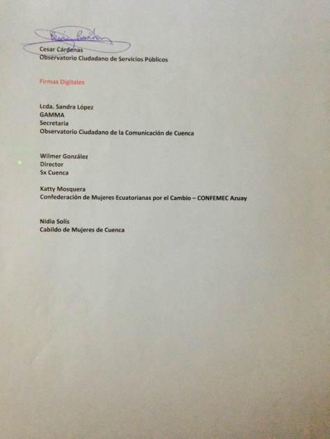 Acta de reunión - Plataforma de los derechos humanos para vigilar a los programas comicos 2