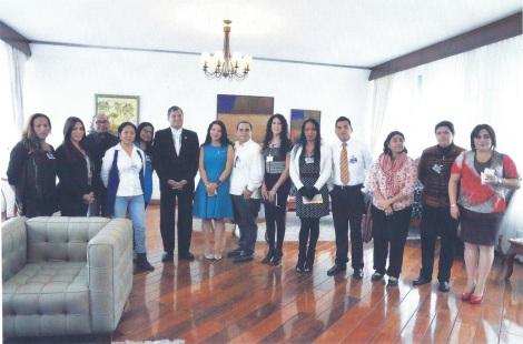 Almuerzo de Trabajo entre grupos GLBTI - Diane Rodríguez y el presidente de la República Rafael Correa Delgado