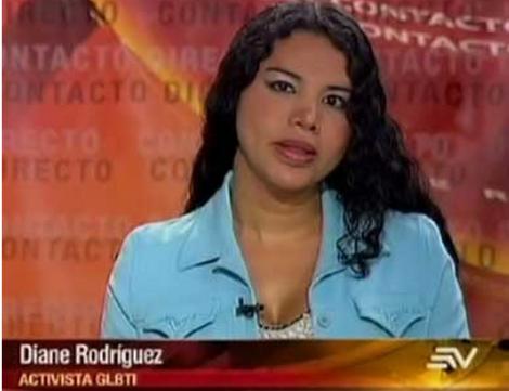 Diane Rodríguez Activista de la Comunidad GLBTI