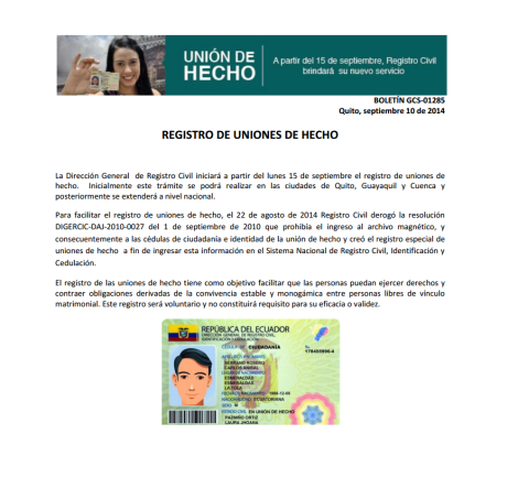 Boletin registro civil