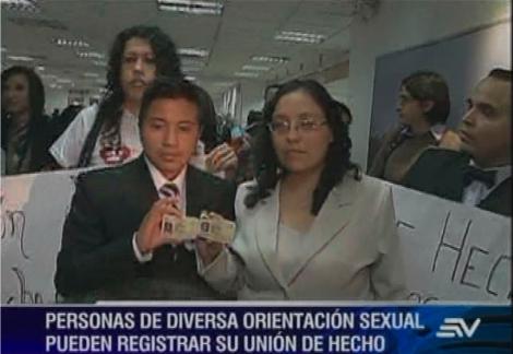 Conozca a la primera pareja que registró su unión de hecho en Quito