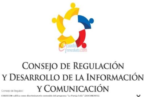 CORDICOM califica como discriminatorio contenido del programa La Pareja Feliz