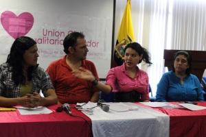 SILUETA X - Lanzamiento Unión de hecho en Guayaquil - Rueda de Prensa - lider GLBTI Diane Rodríguez (4)