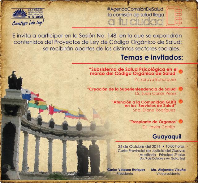 Agenda de la Comisión de Salud en Guayaquil