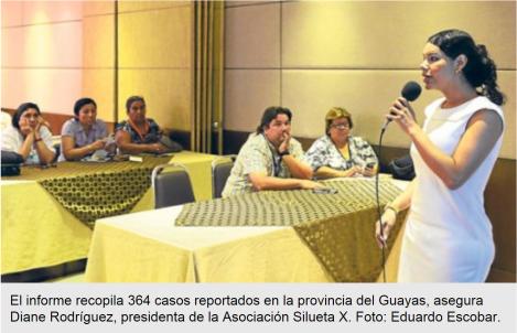 Colectivo presenta informe hemerográfico de GLBTI-DianeRodriguez
