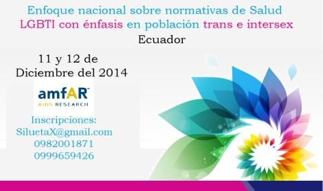 Enfoque Nacional sobre Normativas de Salud LGBTI con énfasis en Población Trans e Intersex (11 y 12 de Diciembre del 2014)