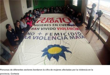 Violencia contra la mujer se plasmará en bordado