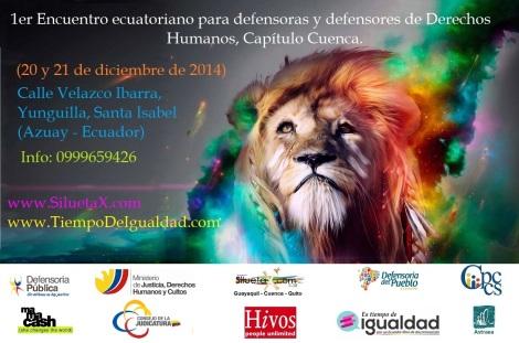 Primer encuentro ecuatoriano para defensoras y defensores de derechos humanos, capitulo cuenca
