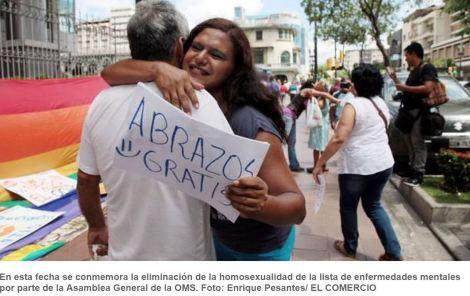 Abrazos y besos contra la homofobia en Guayaquil- SiluetaX