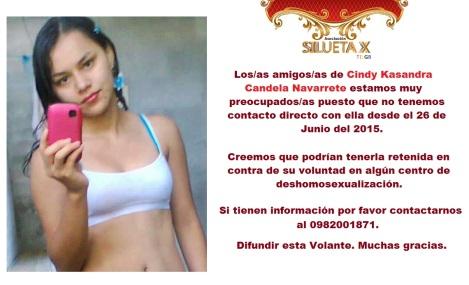 Cindy Kasandra Candela Navarrete clinica de deshomosexualización - tortura lgbt ecuador