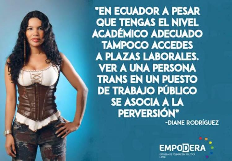 Diane Rodríguez - Representante LGBT transgénero del Ecuador - Ser activista es generar impacto promoviendo la paz