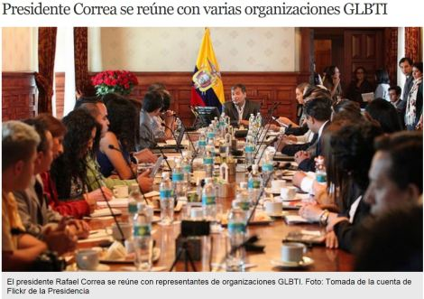 Presidente Correa se reúne con varias organizaciones GLBTI- SiluetaX