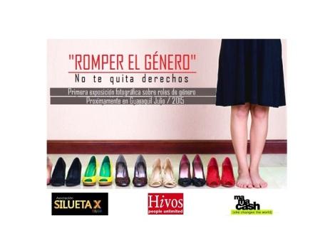 Romper el género - Exposición fotografica sobre roles - Artivismo Silueta X - Ecuador