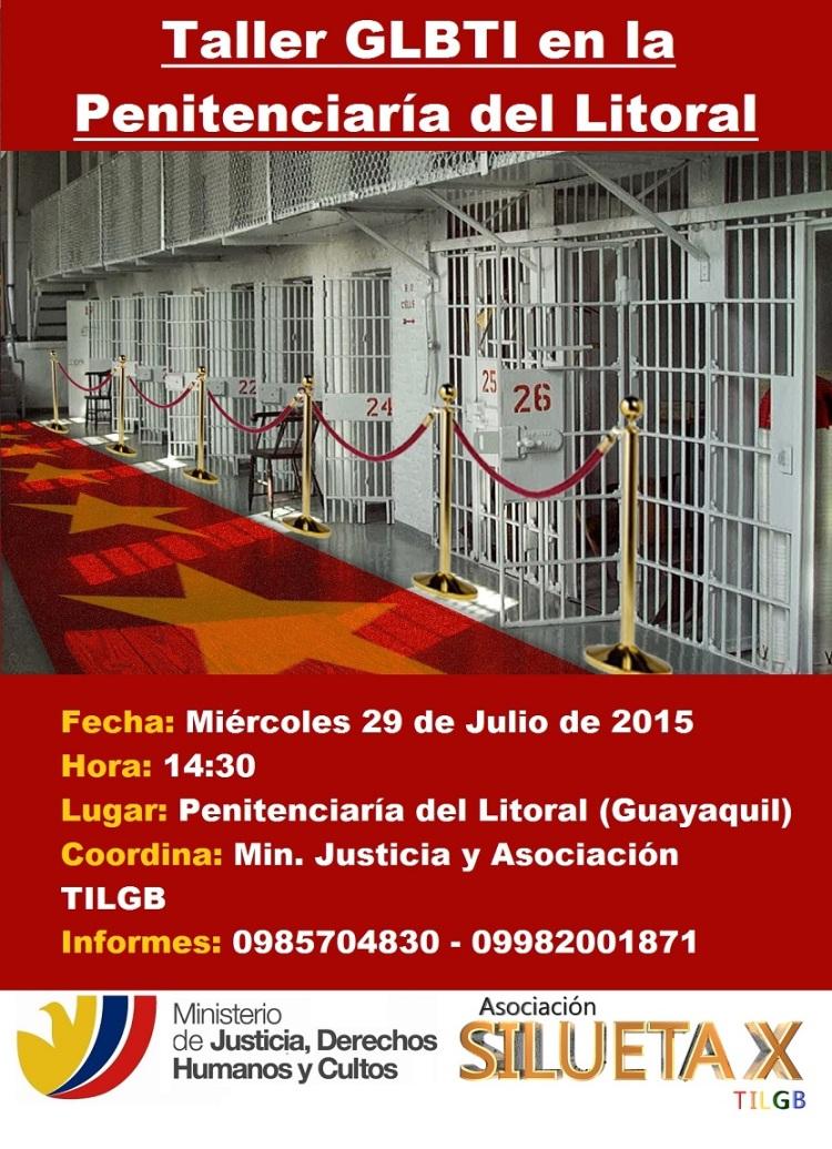 Taller en la Penitenciaria del Litoral - Asociación Silueta X y Ministerio de Justicia Julio 2015