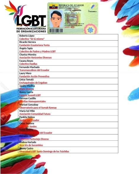 Comunicado sobre genero universal y opcional en la cedula -Federación Ecuatoriana de Organizaciones LGBT 3