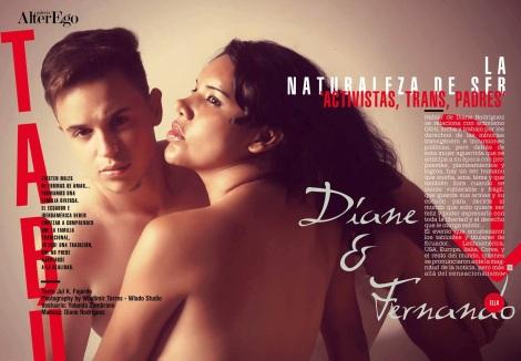 Diane Rodríguez y Fernando Machado primer hombre embarazado transexual - Alter-Ego - Revista Out