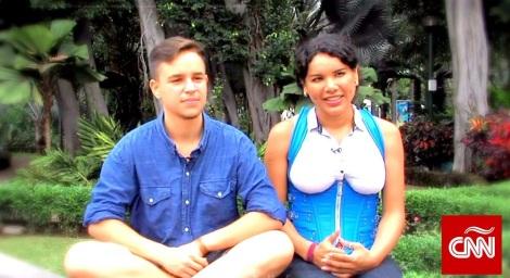 Fernando Machado esta embarazado de su novia transexual Diane Rodríguez