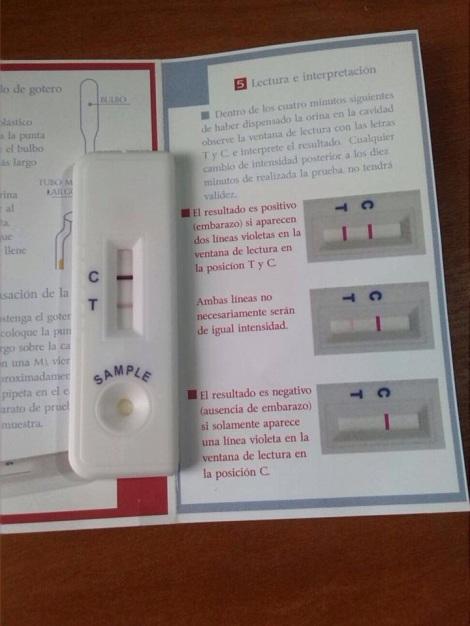 Prueba de embarazo de Fernando Machado y Diane Rodriguez - Orina