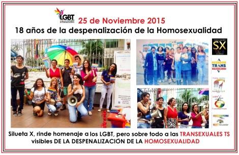 18 años de la despenalización de la Homosexualidad en Ecuador - Asociación Silueta X