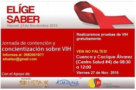Jornada de concientizacion sobre VIH dia internacional de Lucha Asociacion Silueta X