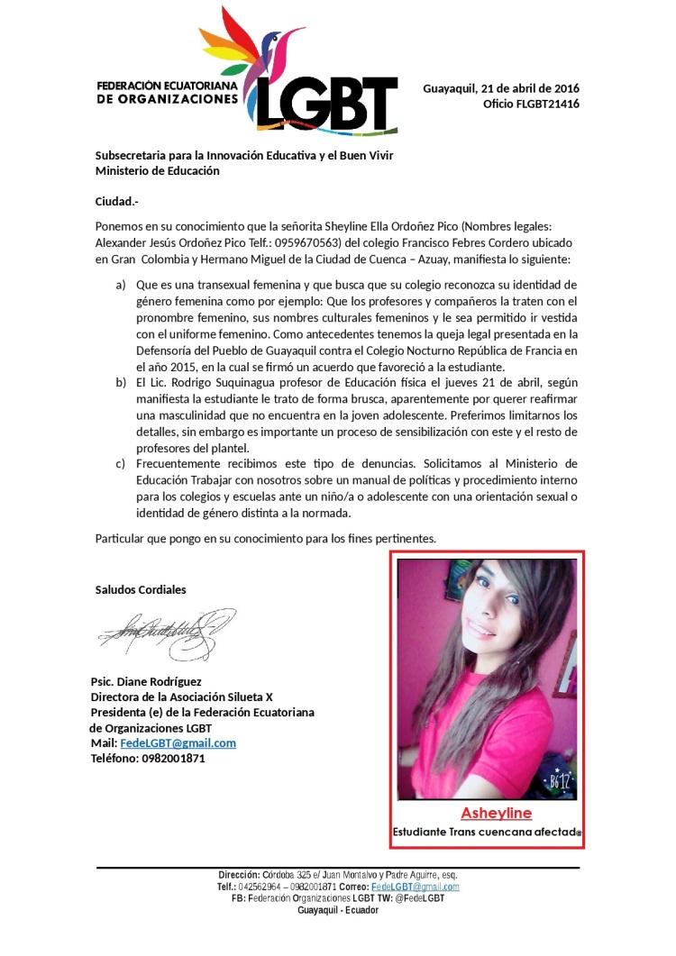 Estudiante Cuencana Trans denuncia falta de atención a su identidad de género