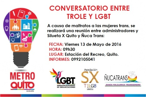Reunión LGBT Silueta X y Metro de Quito