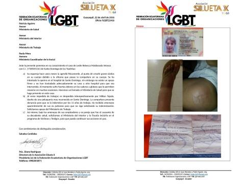 Trans requiere operarse por inyectarse Siliconas en Santo Domingo de los Tsachilas - Asociación Silueta X Federación LGBTI