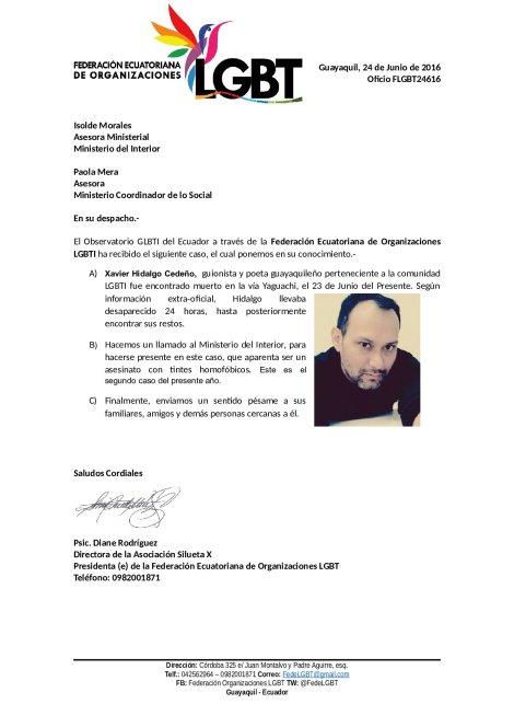 Oficio_FLGBT24616_Min_Interior_LGBTI_es_asesinado