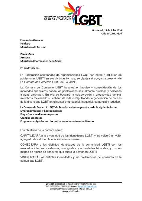 Camara de Comercio LGBTI de Ecuador