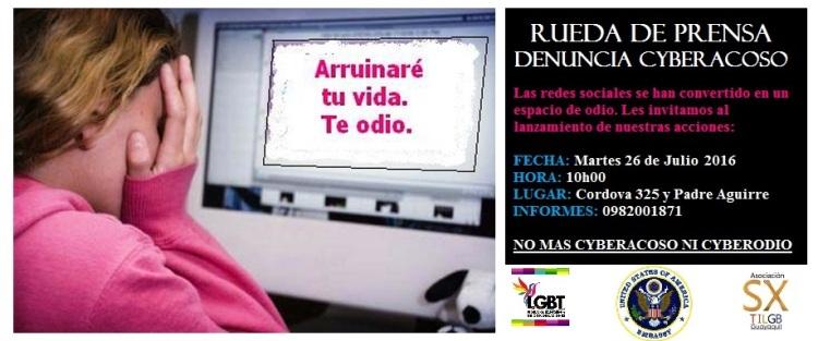Ciberacoso denuncias en Ecuador - Federación Ecuatoriana de Organizaciones LGBTI y SIlueta X