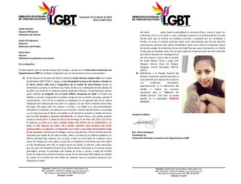 Joven Lesbiana es violada en el Puyo y luego se suicida lamentablemente - Federación de organizaciones LGBTI