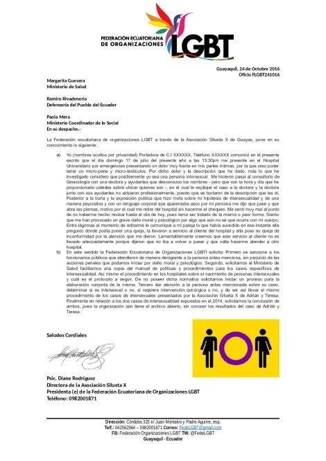 oficio_flgbt241016_intersexual_recibe_aparente_maltrato-en-hospital-universitario-federacion-ecuatoriana-de-organizaciones-lgbt-silueta-x