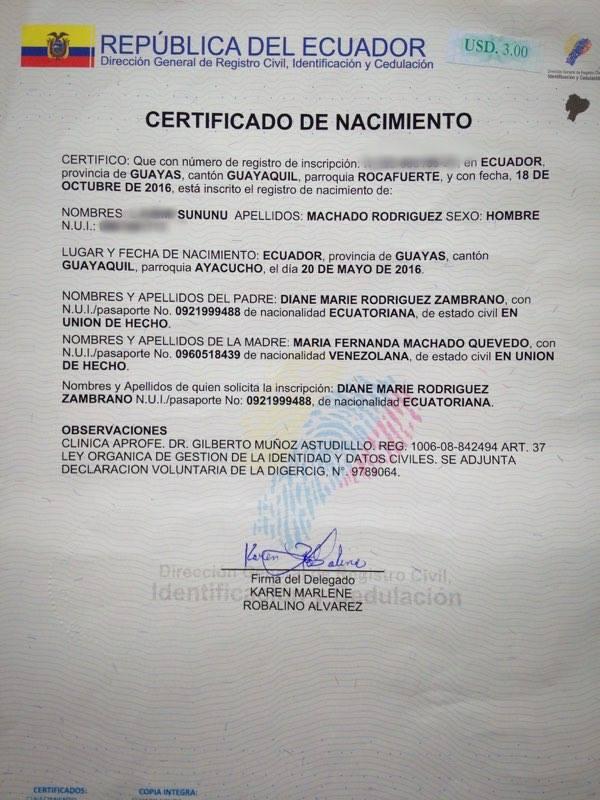 Partida De Matrimonio Catolico : Partida matrimonio registro civil ecuador de