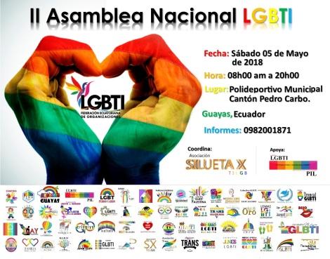 Encuentro nacional GLBTI del Ecuador coordinado por la Asociación SIlueta X lgbt