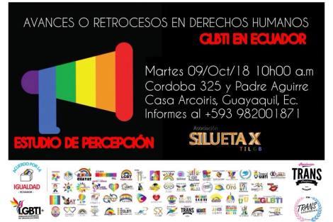 Estudio de percepcion de avances o retrocesos en derechos humanos lgbt ecuador 2018 - asociacion silueta x - federacion ecuatoriana