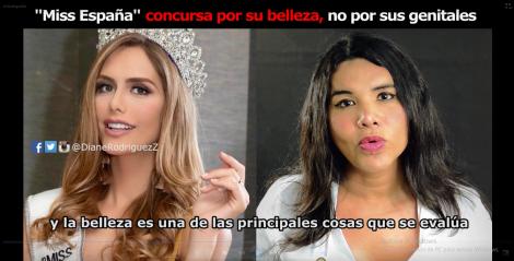 Miss España, Angela Ponce, concursa por su belleza, no por sus genitales, dicho por la defensora de derechos humanos LGBT Diane Rodriguez