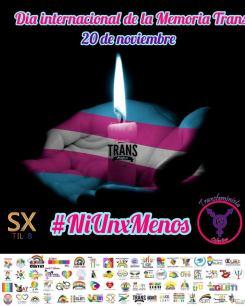 20 de noviembre-dia de la memoria internacional trans-asociacion silueta x- colectiva transfeminista- plataforma revolucion trans