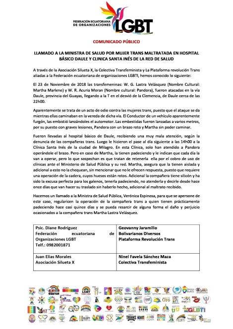 LLAMADO-A-LA-MINISTRA-DE-SALUD-POR-MUJER-TRANS-MALTRATADA-EN-HOSPITAL-BÁSICO-DAULE-Y-CLINICA-SANTA-I