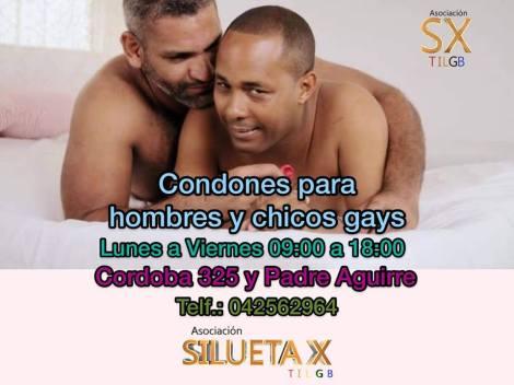 condones gratis, silueta x