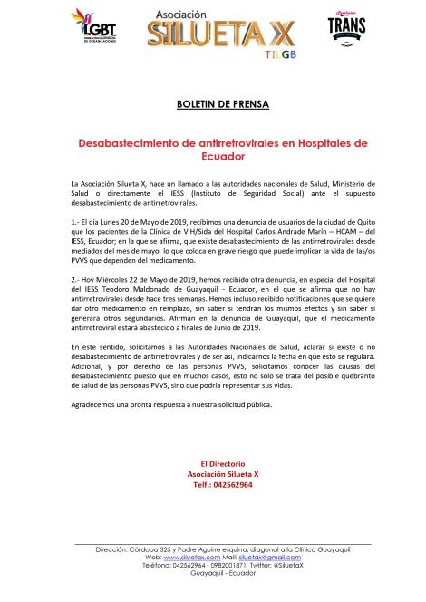 Boletín-de-Prensa-Desabastecimiento-de-antirretrovirales-en-Hospitales-de-Ecuador-Asociación-Silueta