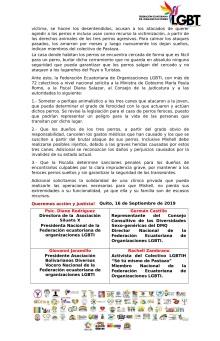 Boletín de Prensa - Tres perros sueltos atacan brutalmente a una joven LGBT al punto de comerse sus extremidades - Federación Ecuatoriana de Organizaciones LGBTI-2